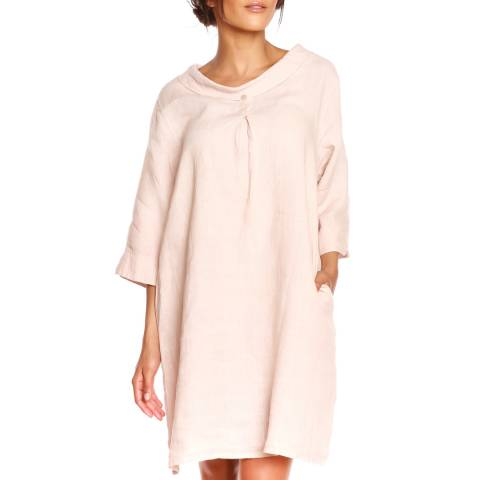 100% Linen Rose Sandy Dress