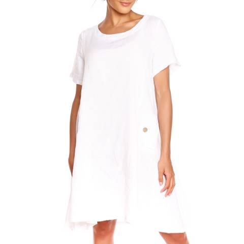 100% Linen White Karen Dress
