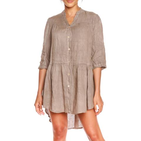 100% Linen Taupe Julie Tunic