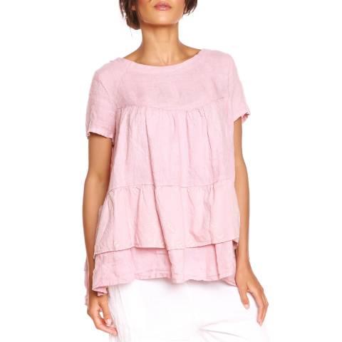 100% Linen Rose T-Shirt