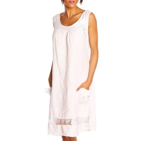 100% Linen White Solene Dress