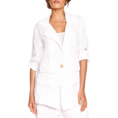 100% Linen White Lana Light Jacket