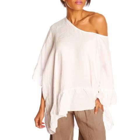 100% Linen White Anais Tunic