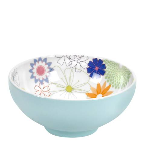Portmeirion Set of 4 Crazy Daisy Footed Bowls