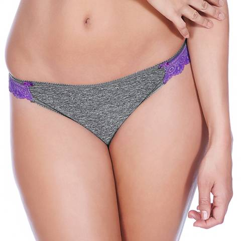 Freya Charcoal Deco Delight Brazilian briefs