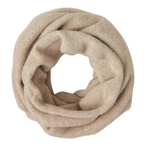 Laycuna London Light Taupe Italian Cashmere Snood
