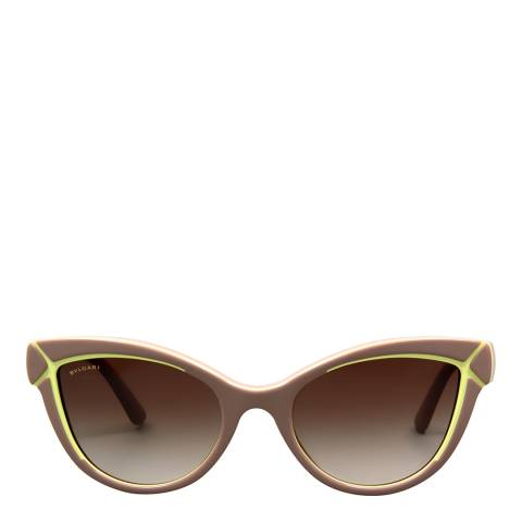 Bvlgari Women's Beige Sunglasses 54mm