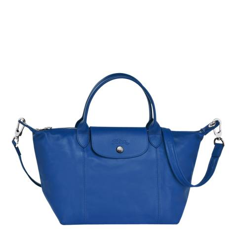 Longchamp Blue Leather Le Pliage Cuir Small Tote Bag
