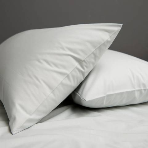The White Room Pair of Light Grey St Maxime Pillowcases