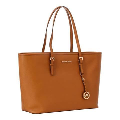 Michael Kors Tan Jet Set Medium Leather Tote Bag