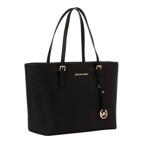 Michael Kors Black Jet Set Leather Tote Bag