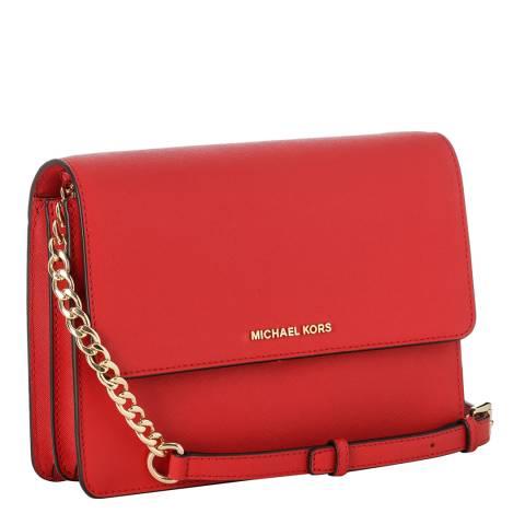 9922f129d549 Michael Kors Red Daniela Leather Corssbody Bag