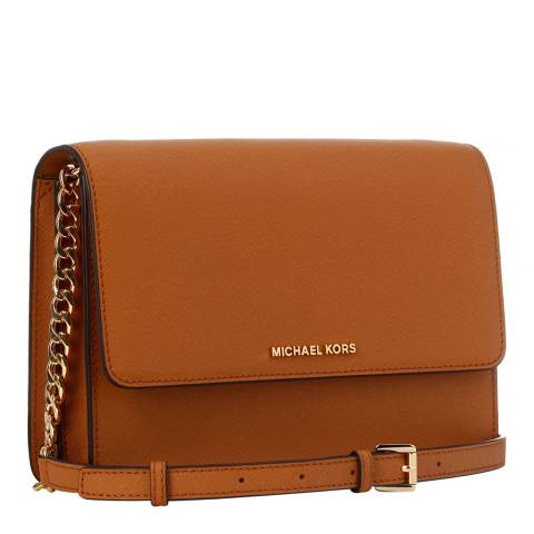 97fe9aa3bdad Michael Kors Tan Leather Daniela Crossbody Bag