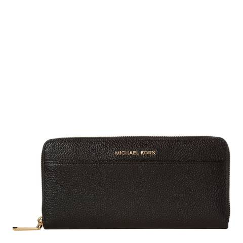 Michael Kors Black Mercer Leather Continental Wallet