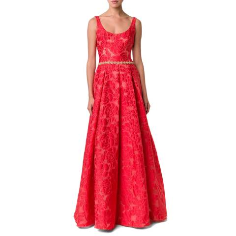 Marchesa Red Silk Blend Gown