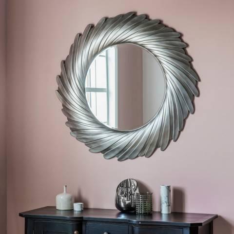 Gallery Silver Lowry Wall Mirror 100x100cm