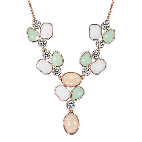 Saint Francis Crystals Rose Gold Swarovski Crystal Elements Necklace