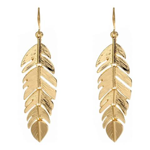 Amrita Singh Gold  Leaf Earrings