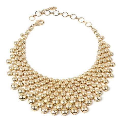 Amrita Singh Gold Frosted Metal Collar