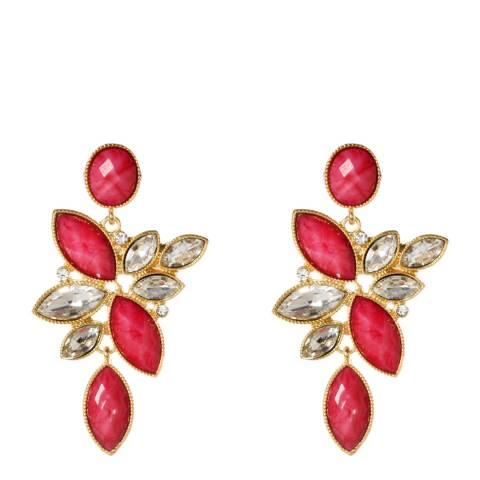 Amrita Singh Fuchsia/Clear Tamira Earrings