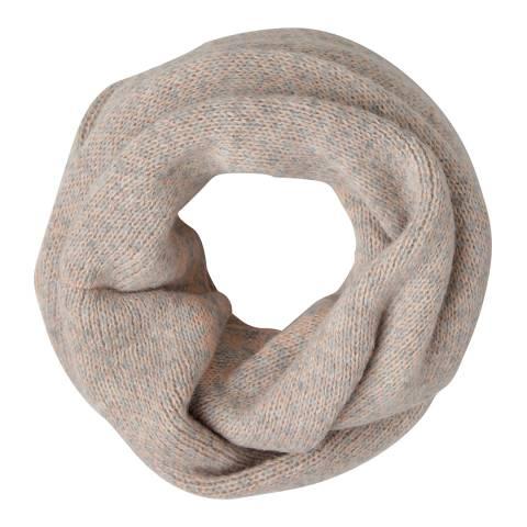Laycuna London Pink/Grey Geometric Wool Blend Snood