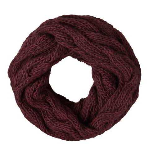 Laycuna London Wine Chunky Wool Blend Snood