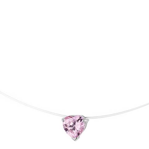 Wish List Silver/Rose Pink Heart Necklace