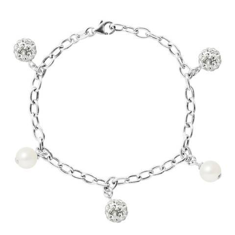Wish List White Freshwater Pearl Link Bracelet