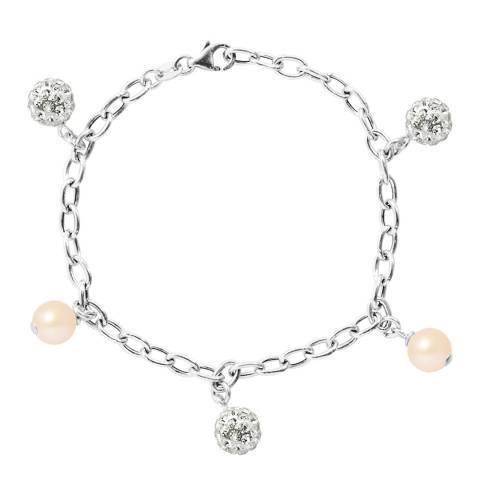 Wish List Rose Pink Freshwater Pearl Link Bracelet