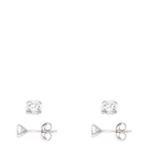 Wish List Silver/White Zirconia Earrings
