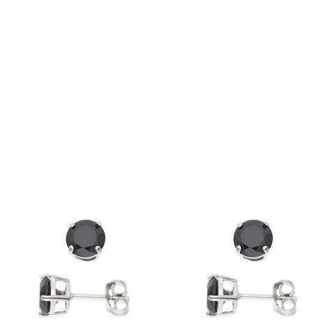 Wish List Black/Silver Earring Set