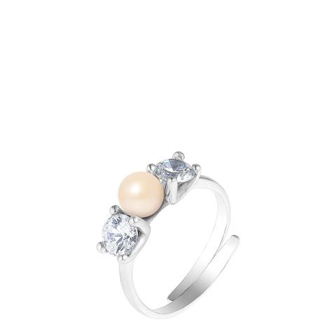 Wish List Silver/Rose/Pink Freshwater Pearl Ring