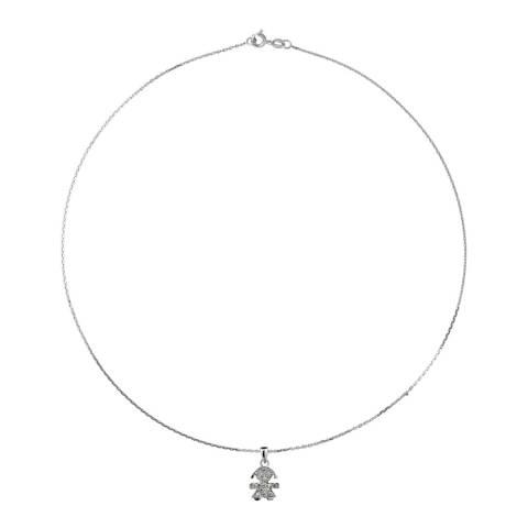 Wish List Silver Zirconium Fille Necklace