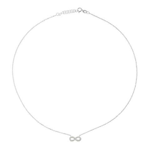 Wish List Silver Zirconium Infinity Necklace