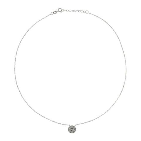 Wish List Silver Zirconium Circle Diamond Necklace