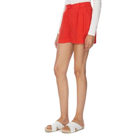 Jack Wills Red Burke High Waisted Shorts