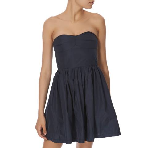 Jack Wills Navy Sleeveless Flared Dress