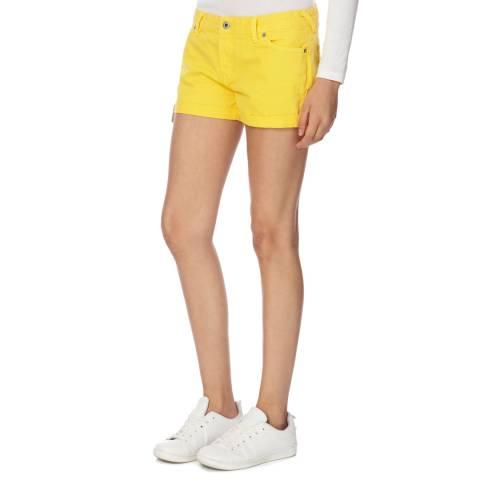 Jack Wills Yellow Denim Kensworth Shorts