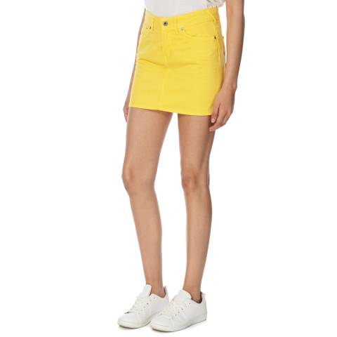 Jack Wills Yellow Denim Netton Mini Skirt