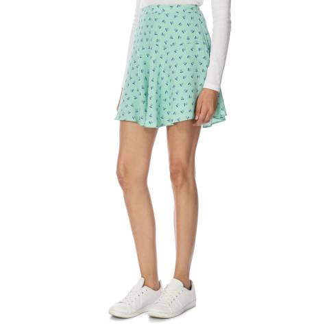 Jack Wills Green Ditsy Papworth Skirt