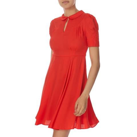Jack Wills Red Hannaby Tea Dress