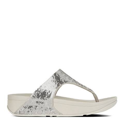 FitFlop Silver Electra Micro Crystal Toe Post Sandals