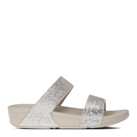 FitFlop Silver Electra Micro Crystal Slides
