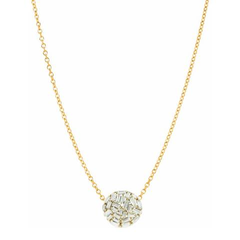 Black Label by Liv Oliver Gold Multi Cz Pendant Necklace