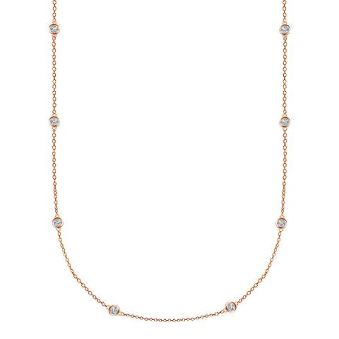 Black Label by Liv Oliver Rose Gold Station Necklace