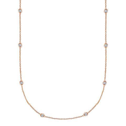 Black Label by Liv Oliver Rose Gold Station Long Necklace