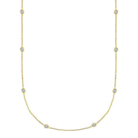 Black Label by Liv Oliver Gold Station Long Necklace