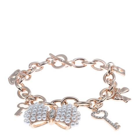 White label by Liv Oliver Rose Gold Charm Bracelet
