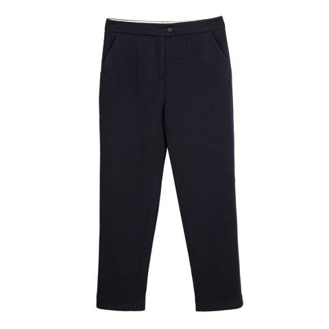 Chinti and Parker Navy Tailored Cropped Trousers