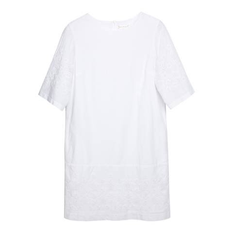 Chinti and Parker White Star Cotton Shift Dress